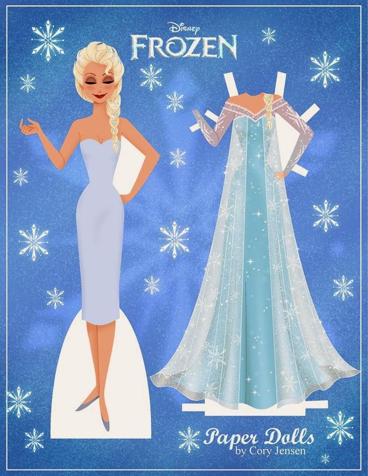 Frozen: Muñecas de Papel para Imprimir Gratis. | Ideas y material ...