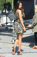 Priyanka Chopra looks super cute in happy mood wearing a short flower print dress in Hollywood 017.jpg