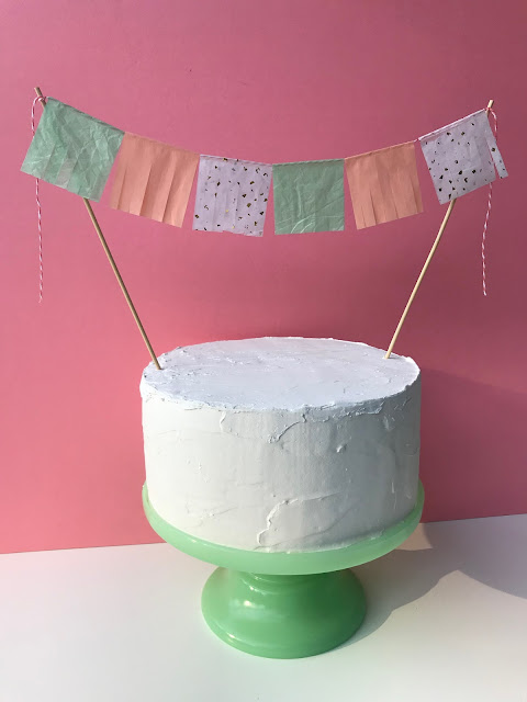 Create a DIY Fringe Cake Topper with Tissue Paper and your Cricut Maker!