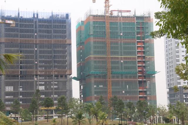 Cập nhật tiến độ xây dựng tại chung cư Phú Mỹ Complex ngày 25/11/2016