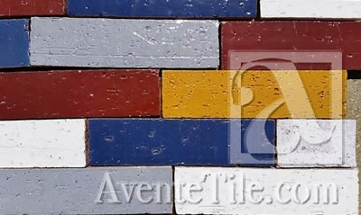 Avente Tile's Glazed Thin Brick comes in six colors.