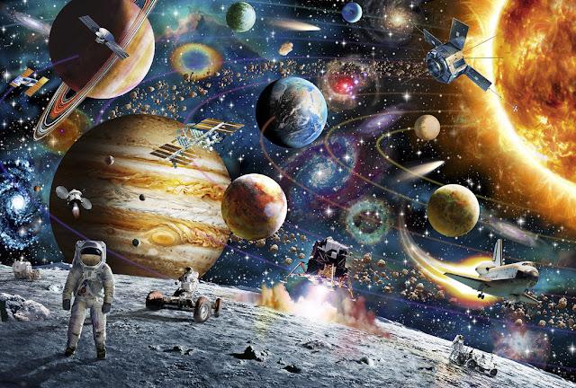 Avaruus tapetti aurinkokunta aurinko planeetat lasten
