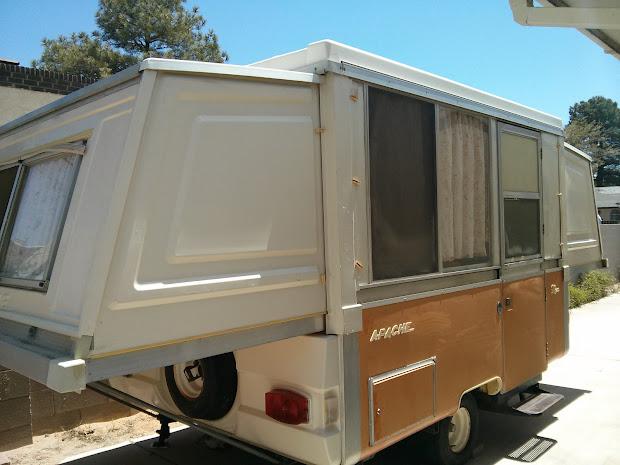 Vintage Apache Pop Up Camper - Year of Clean Water