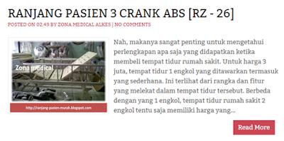 Ranjang Rumah Sakit 3 Engkol ABS RZ-26