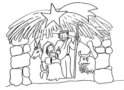 Desenho De Natal Cristão Para Colorir
