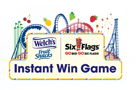 Welch's Fruit Snacks have a new Instant Win Game where you can enter daily to instantly win a pair of tickets to a Six Flags Theme Park or you might score some yummy Fruit Snacks!
