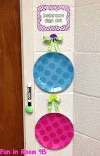 Great way of keeping track of restroom breaks, and other great organizational ideas for your classroom!