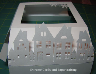 add houses to shadow box pop up card