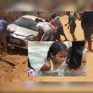 Menina de 4 anos morre após carro dirigido pelo pai capotar várias vezes na Paraíba
