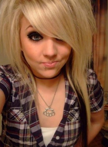 beauty of long emo hairstyle