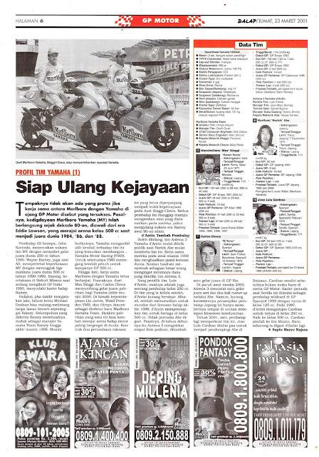 BALAP GP MOTOR: PROFIL TIM YAMAHA SIAP ULANG KEJAYAAN