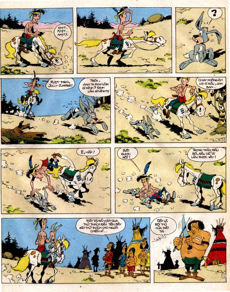 Lucky Luke tap 12 - khe vuc apache trang 23