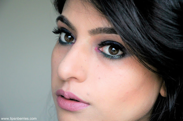 Essence lip liner in Satin Mauve on medium indian skin