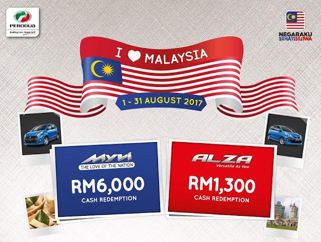Promosi Perodua Bulan August 2017 - I Love Malaysia