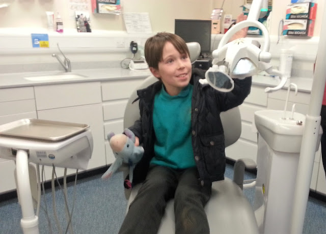 Boy in Dentist Chair