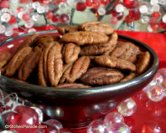 Savory Roasted Pecans ♥ KitchenParade.com