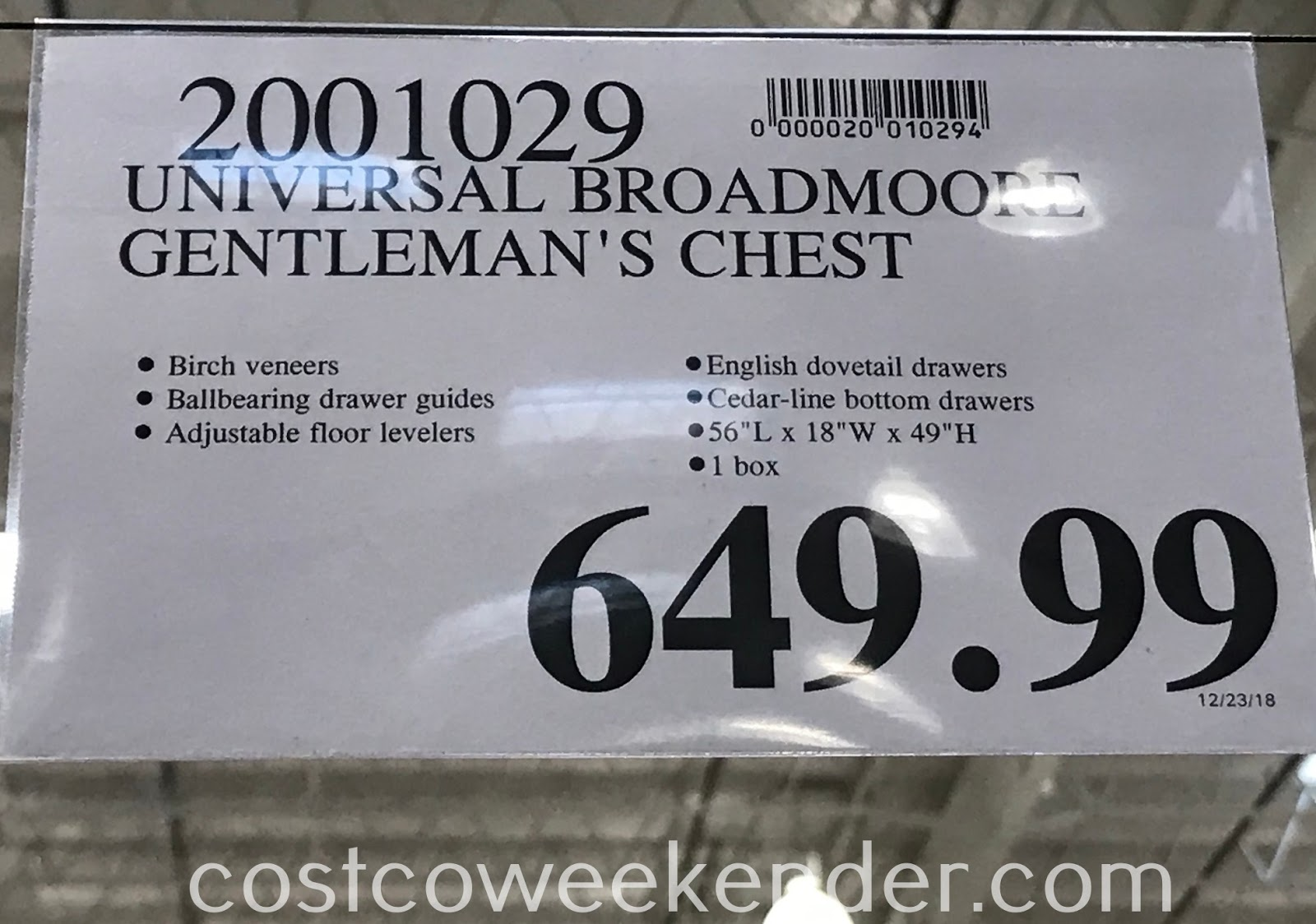 Deal for the Universal Broadmoore Gentleman's Chest at Costco