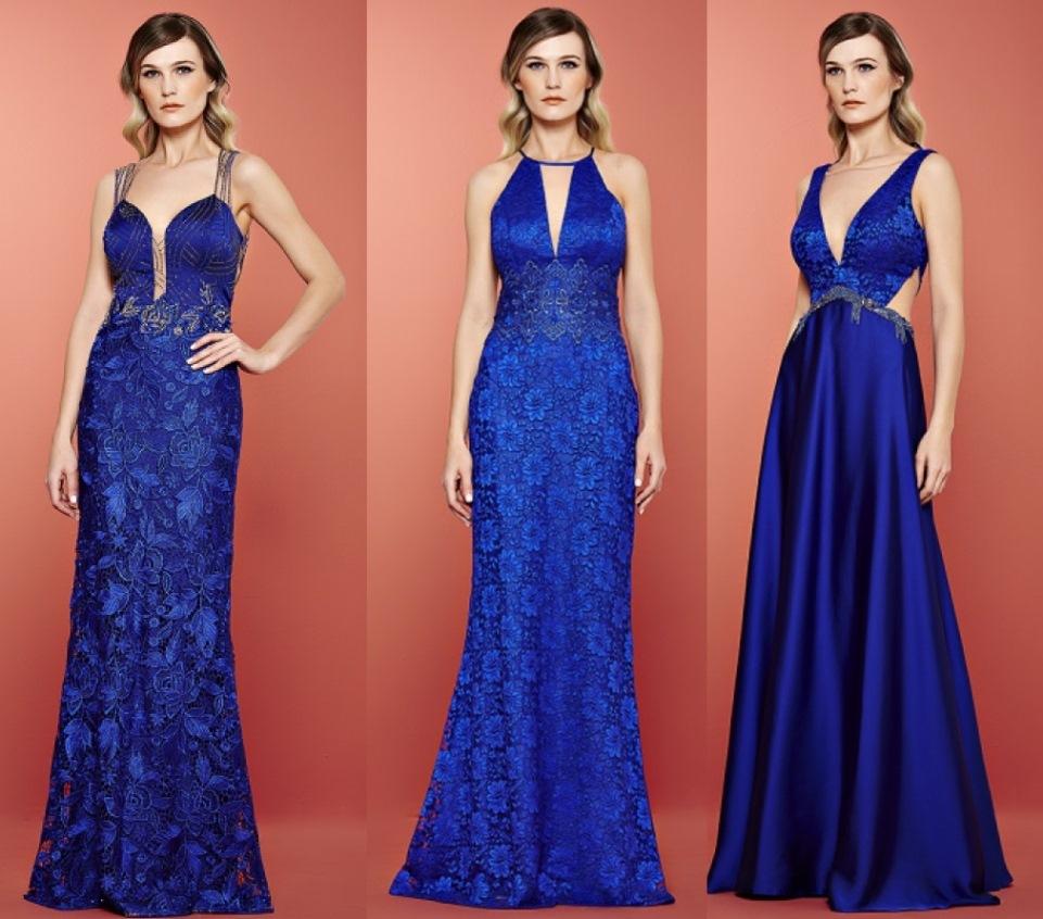 Vestidos de festa em azul