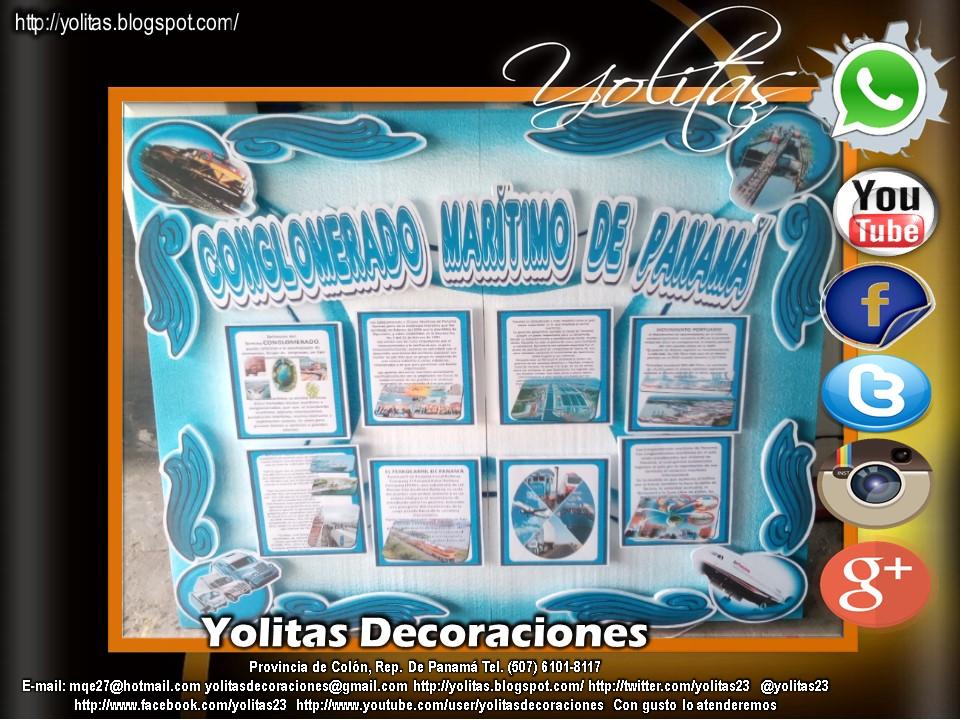 Yolitas decoraciones mural con esquineras escolares panam for Mural de los 5 sentidos