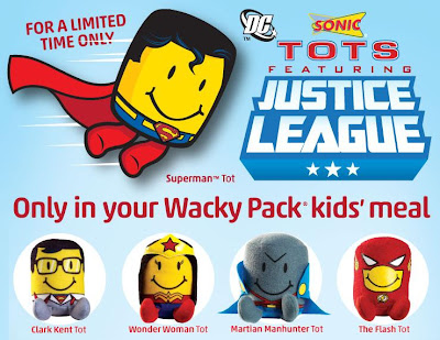 DC Comics x Sonic Justice League Tots Plush Figures - Clark Kent, Wonder Woman, Martian Manhunter & The Flash