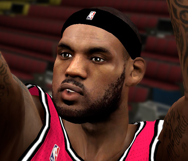 NBA 2K14 LeBron James Semi Next-Gen Face Mod