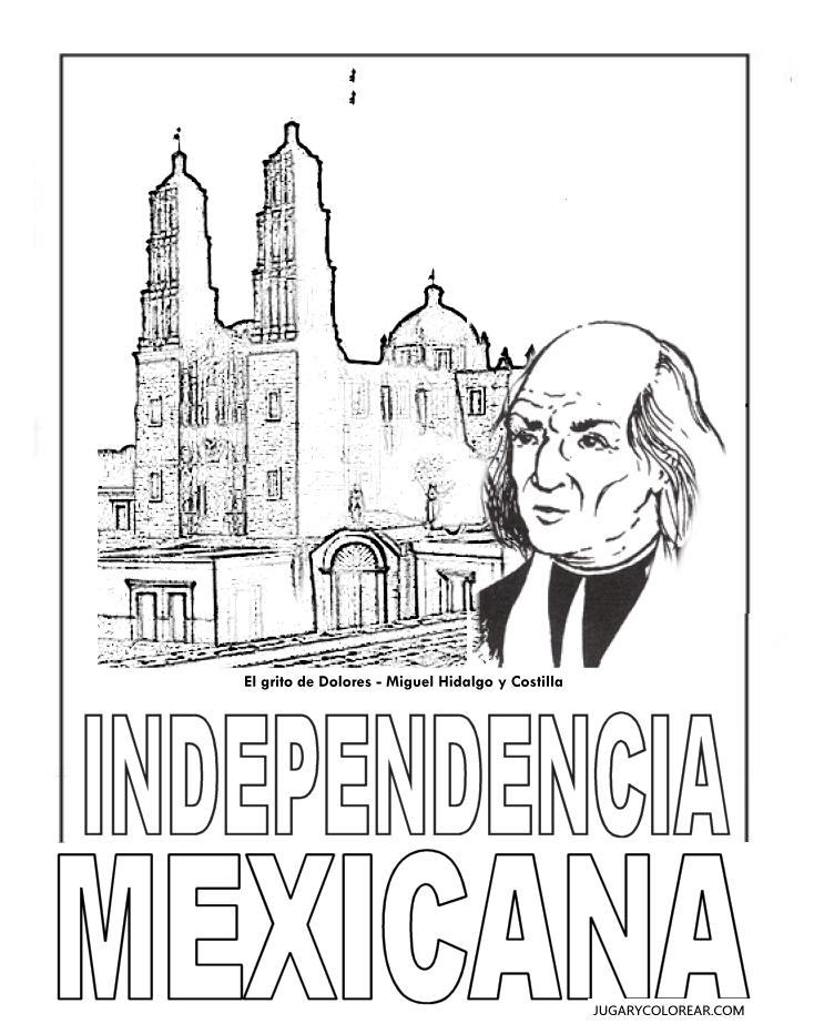 Dibujos Para Colorear Día De La Independencia México