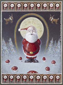 Santa Claus the Magic Mushroom 3136-agaricallegory