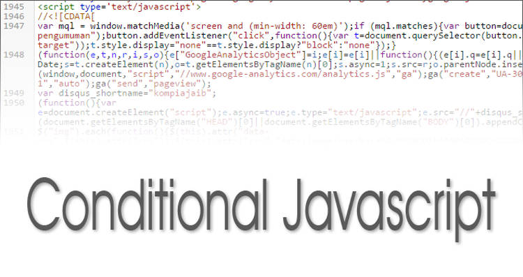 Cara Menggunakan Conditional Javascript