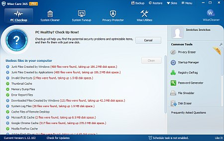 Download Wise Care 365 Pro 4.65 Final Portable software
