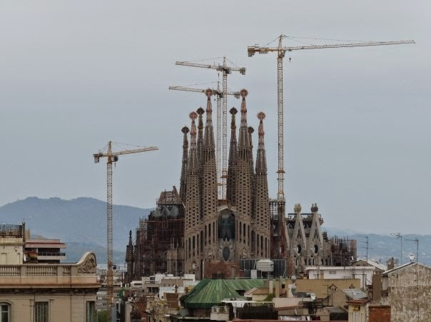 Barcelona - Sagrada Familia with cranes