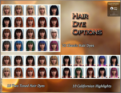 Shena Hair for Genesis 3 Female