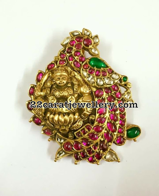 Ruby Pendant Sets by Swarnaa Jewellers