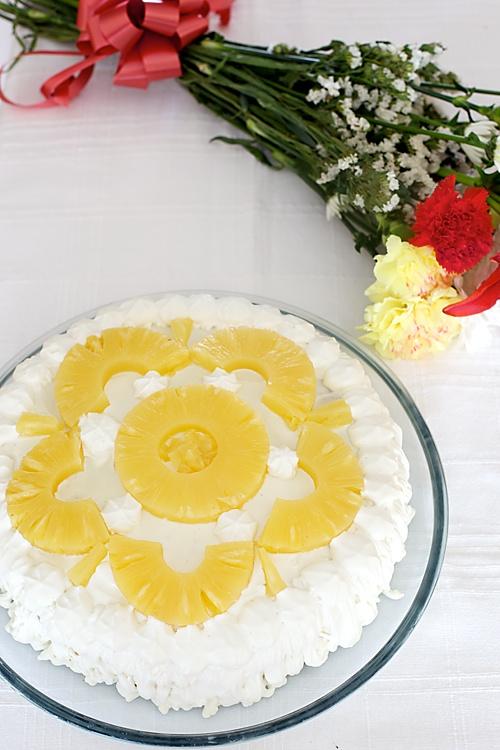 Eggless Pineapple Cake Recipe In Pressure Cooker In Hindi