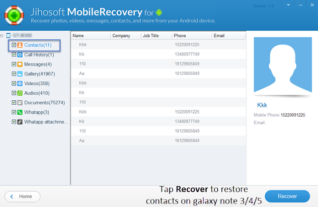 Samsung Data Recovery How To Recover Deleted Contacts