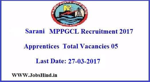 Sarani MPPGCL Recruitment 2017