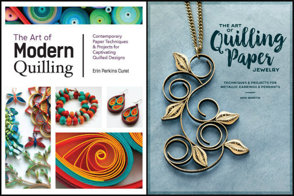 covers of two how-to quill books, The Art of Modern Quilling and The Art of Quilling Paper Jewelry