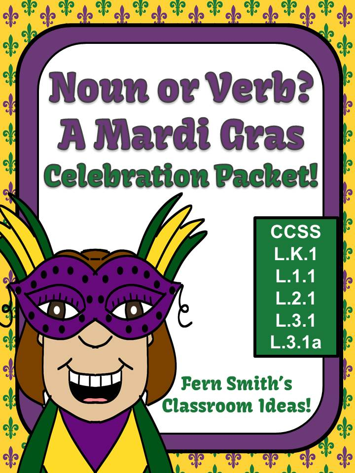 Fern Smith's Noun or Verb? A Mardi Gras Celebration Packet