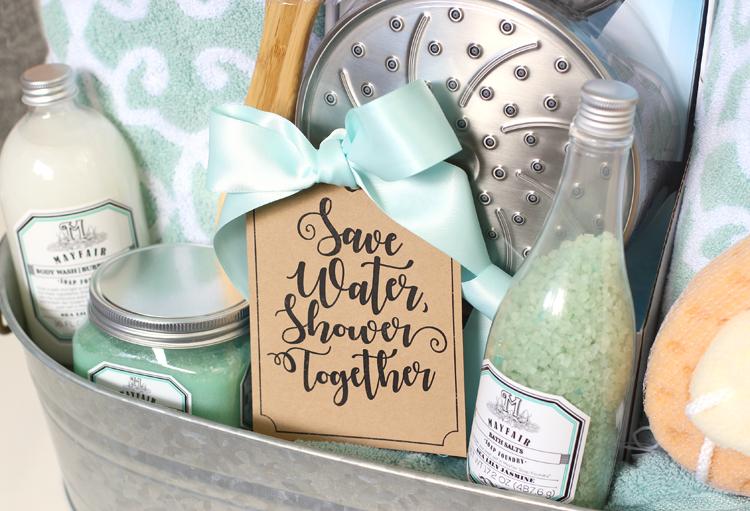 the craft patch: shower themed diy wedding gift basket idea