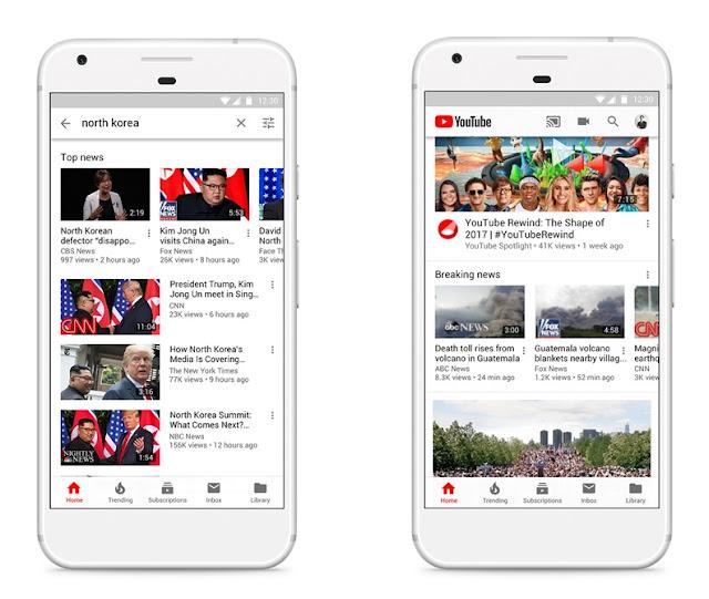Smartphones mit YouTube Suchergebnissen