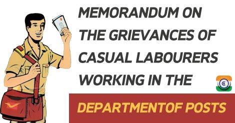 postal department Memorandum