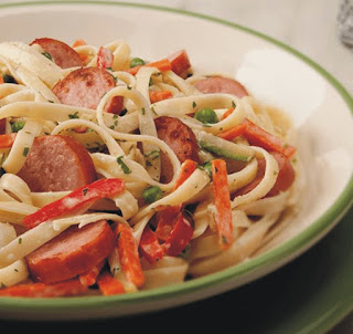 Hillshire Farms Sausage and Pasta Recipes with Bow Tie Pasta and Smoked Sausage