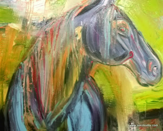 abstract horse art for sale by Sue Steiner, Free Rein Art Studio