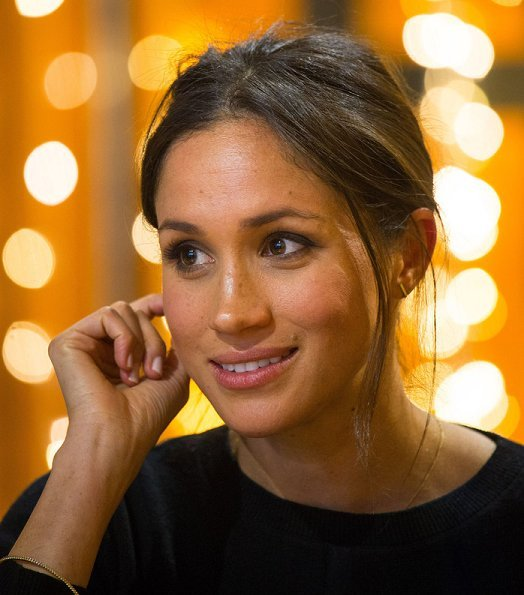 Meghan Markle wore Marks & Spencer Wool Blend Round Neck Bell Sleeve Jumper