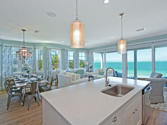 Sundays By The Shore-Anna Maria Island-Beach House Rental-Living Room-Dining Room-From My Front Porch To Yours