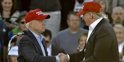 Jeff Sessions, left, and Donald Trump