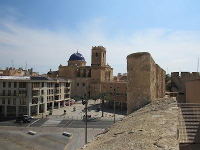 Vistas de Elche desde el palacio de Altamira