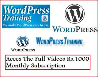 Wordpress Training Videos in Telugu