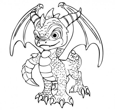 skylanders giants coloring pages | Skylanders Spyro's Coloring Pages for Kids >> Disney ...