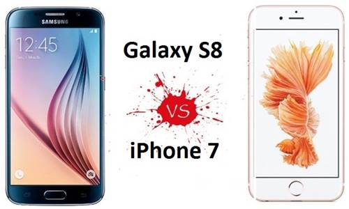 Comparativo entre o Galaxy S8 e o iPhone 7