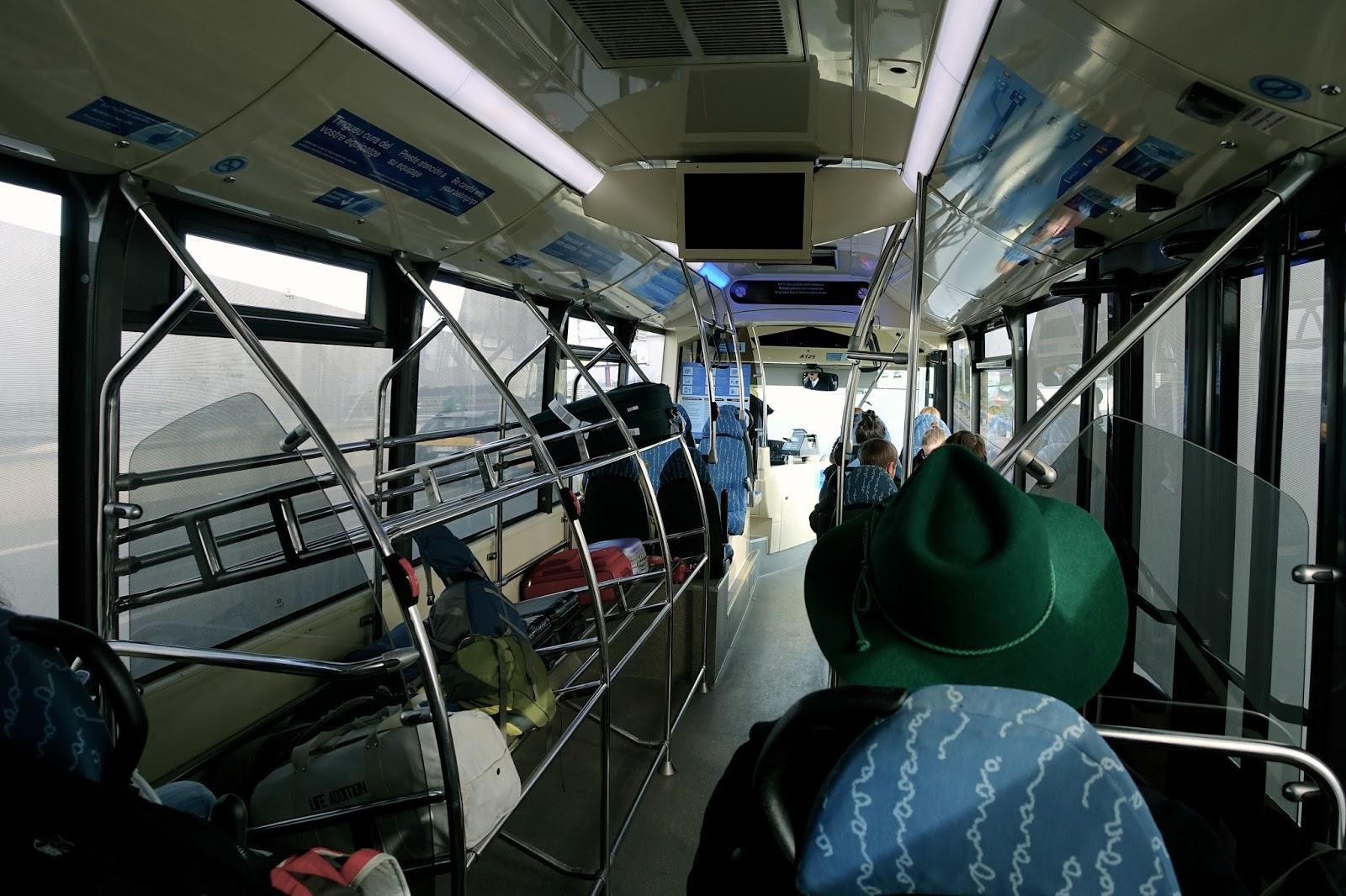 空港バス「Aeurobus」車内